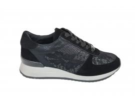 GATTINONI 0539 Sneaker Camoscio Pizzo Nero